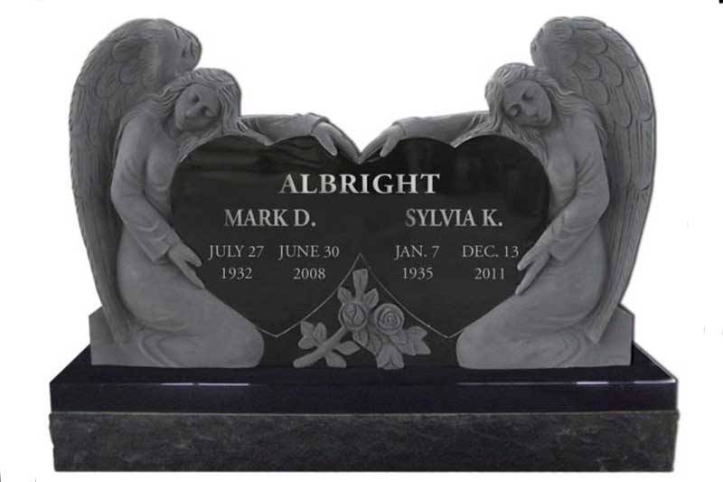 Companion Upright Cemetery Monuments