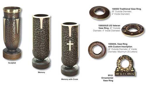 Memorial Vases Cemetery Monuments